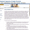 NC drug treatment court website